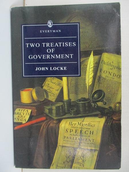 【書寶二手書T1/政治_HZH】Two Treatises of Government_Locke, John/ Goldie, Mark