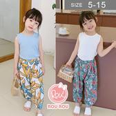 韓版女童防蚊褲。ROUROU童裝。夏女童印花透氣防蚊褲 0222-430