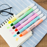 螢光筆 旋轉筆 口紅筆 彩色筆 果凍筆 文具 塗鴉 辦公用品 可水洗 固體螢光筆【M175】慢思行