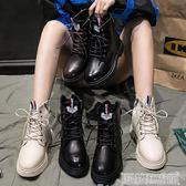 內增高馬丁靴女加絨 冬季新款英倫風韓版百搭學生厚底短靴棉鞋 科技藝術館