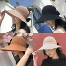 夏季女遮陽帽防曬大沿帽韓版百搭漁夫帽女沙灘帽防紫外線太陽草帽 店慶降價