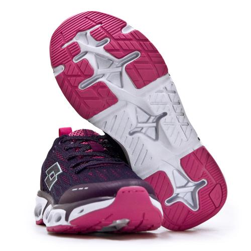 LIKA夢 LOTTO 專業風動慢跑鞋 AIR FLOW 4.0系列 紫桃紅 1917 女