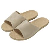素色亞麻拖鞋 AS606 BE 39-40 NITORI宜得利家居