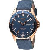MIDO美度OCEAN STAR海洋之星系列時尚腕錶  M0264303604100 藍