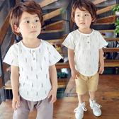 短袖套裝 男童棉麻短袖套裝 S56015