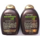 美國Ogx澳洲堅果油有機洗髮乳*2+潤髮乳*1瓶共(13oz/385ml)*3瓶