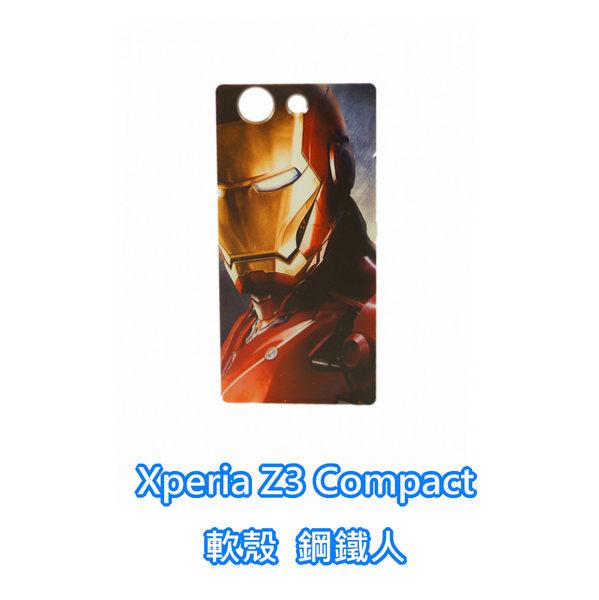 sony Xperia Z3 Compact D5833 Z3C M55W 手機殼 軟殼 保護套 復仇者聯盟 鋼鐵人