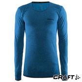 【瑞典CRAFT】男 全天候長袖內著衣『深藍』1903716 排汗衣│慢跑衣│吸濕排汗│乾爽透氣