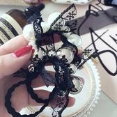 韓蕾絲打結不規則大小珠珍 髮束-170123-pipima