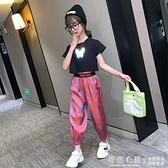 女童夏裝網紅套裝2021新款兒童洋氣時髦童裝女大童夏季運動兩件套 怦然新品