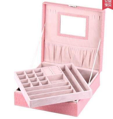 創意飾品盒復古珠寶首飾盒 公主 歐式 韓國帶鎖收納盒大號
