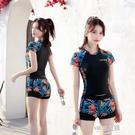游泳衣女士2020新款兩件套分體式學生仙女范保守遮肚顯瘦泳裝溫泉