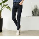 《BD0123》車縫線造型原色嚴選牛仔褲...