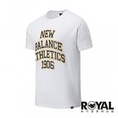 New balance 白色 棉質 短袖 T恤 男女款 NO.H3038【新竹皇家 MT035128WT】