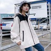 外套女春秋嘻哈少女港風帥氣寬鬆棒球服外套