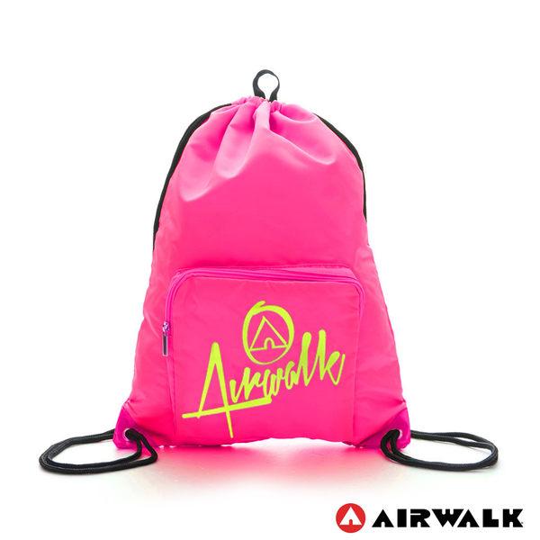 AIRWALK - 樂活城市系列 第二代尼龍束口後背包 - 桃紅