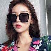 墨鏡女韓版潮彩色復古原宿風韓國太陽鏡新款圓臉顯瘦眼鏡