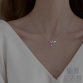 項鏈女925純銀心跳毛衣時尚鎖骨鏈掛飾【極簡生活】