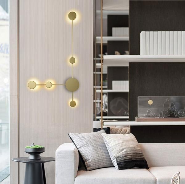 後現代創意LED壁燈 客廳書房走道牆壁燈酒店客房壁燈設計師燈具(五頭)