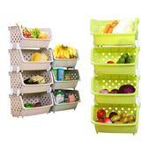廚房蔬菜置物架落地3四多層用品水果收納筐儲物收納架菜架子菜籃