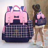 小學生雙肩包書包女女孩輕便3-6年級學生書包可愛公主防水 免運