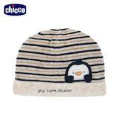 chicco-飛行企鵝系列-條紋嬰兒帽-卡其