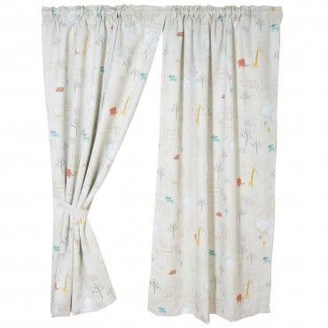 動物樂園印花抗菌遮光窗簾200x165cm