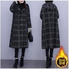 L-5XL日系連帽外套~大碼外套~薄款和加絨加厚款龍鳳毛呢外套女連帽氣質風衣9630.R031A愛尚布衣