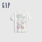 Gap男幼童 布萊納系列 童趣印花短袖T恤 681409-白色