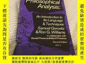 二手書博民逛書店Philosophical罕見analysis:an intro