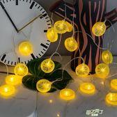 (全館88折)夢幻少女心房間裝飾小燈串軟妹收割機星星燈彩燈燈泡掛燈