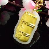 金鑲玉項鍊 和闐玉吊墜-節節高昇生日情人節禮物男女飾品73gf73【時尚巴黎】