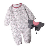 Augelute Baby 花苞圍領造型小碎花空氣棉連身衣 50805