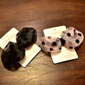 網紗波點蝴蝶結發卡 兒童發卡發飾寶寶發夾氣質發卡 七夕情人節