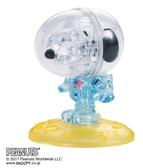 【拼圖總動員 PUZZLE STORY】太空人 日本進口拼圖/Beverly/史努比/35P/立體透明塑膠