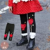 新年聖誕風-愛心金星棉質內搭長褲(厚棉,內絨毛)禦寒保暖(280605)★水娃娃時尚童裝★