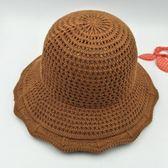 出游防曬草編盆帽 遮陽沙灘漁夫帽可折疊草帽m63