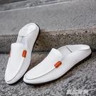 春夏季新款豆豆鞋男士休閒鞋一腳套懶人駕車鞋鞋男潮鞋透氣男鞋子 『蜜桃時尚』