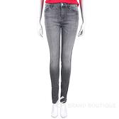 Karl Lagerfeld 鍊條飾邊黑灰色水洗緊身牛仔褲 2040422-58