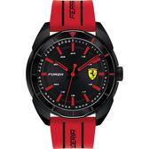 Scuderia Ferrari 法拉利 FORZA 競速手錶-黑x紅/44mm 0830544