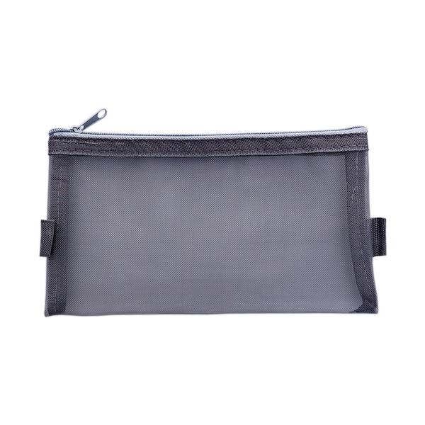 鉛筆盒 化妝包 收納袋 文具袋 鉛筆袋 網袋 拉鍊袋 網紗袋 大 文件袋 透視網格筆袋【G023】MY COLOR