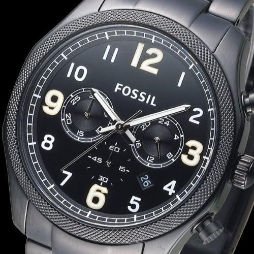 FOSSIL 即刻炫風潮流碼錶計時男錶-IP黑(FS4864)