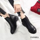 靴子.經典百搭側拉鍊低跟短靴【KW121】黑