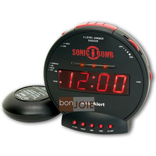 ::bonJOIE:: 美國進口 Sonic Alert SBB500SS 震動鬧鐘 (含振動器) Bomb Boom 音波炸彈 鬧鈴 靜音 提醒器