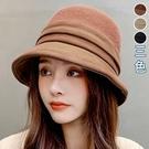 仿羊絨針織拼接漁夫帽(3色)【994445W】【現+預】-流行前線-
