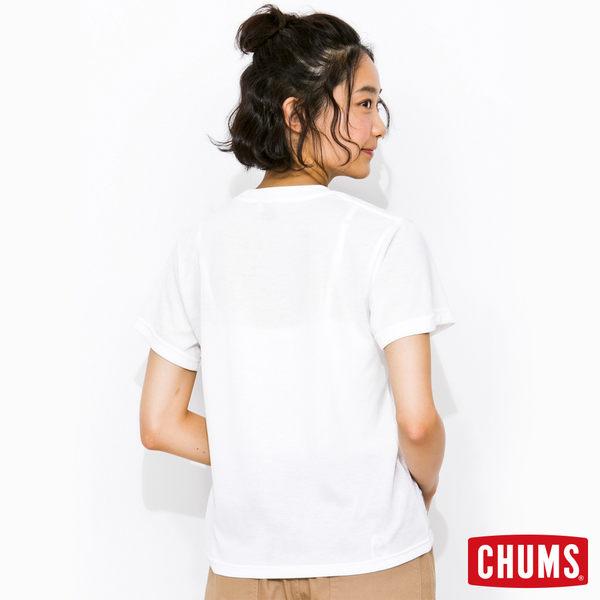 CHUMS 日本 女 Tech 吸濕快排 Breezing 短袖T恤 深藍白 CH111113N001