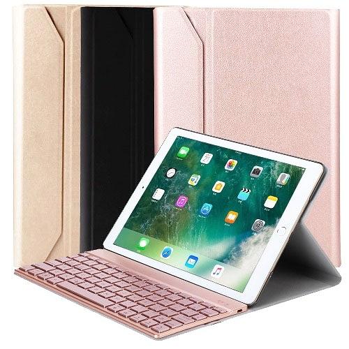 Powerway For iPad Air3/Pro 10.5吋專用尊榮二代型分離式鋁合金超薄藍牙鍵盤/皮套/注音印刷/七彩透光