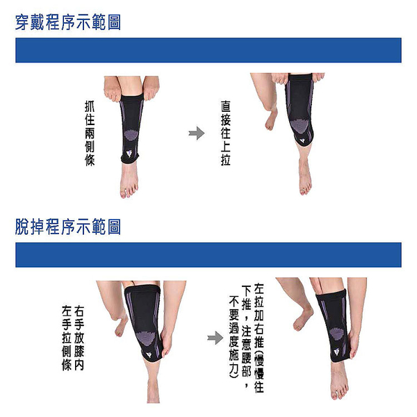 護具 吸濕排汗黑藍色矽膠護膝 GoAround  激能型3D壓縮護膝(1入) 醫療護具 排汗護膝 膝蓋保護 萊卡