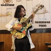 吉他初學者潮流41寸塗鴉網紅學生男女孩吉他新手38寸LX 聖誕節