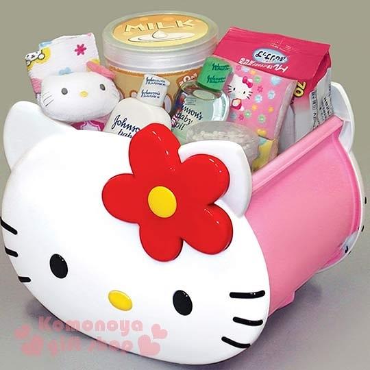 〔小禮堂〕Hello Kitty 臉形收納箱《小.白臉》人氣熱賣商品4904121-31345c